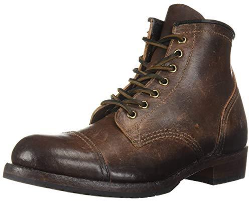 FRYE Herren Cap Toe Logan Zehenkappe, braun, 45.5 EU - Frye Boot Herren Stiefel