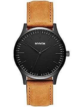 MVMT Watch Herren 40 Series Black/Tan Leather MT01-BLT