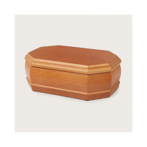 Yzyamz Schmuck Aufbewahrungsbox Multifunktions Massivholz Achteckige Schmuckschatulle Holz Aufbewahrungsbox High-End Schmuck Halskette Ohrringe Schmuckschatulle Klein Hellgelb - Küche Storage-lösungen