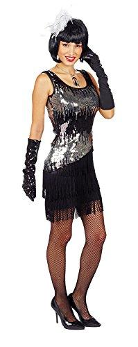 (Pailletten Kleid Liza Schwarz Gr. 40 42 - Tolles Kostüm im Stil der 20er und 30er Jahre)