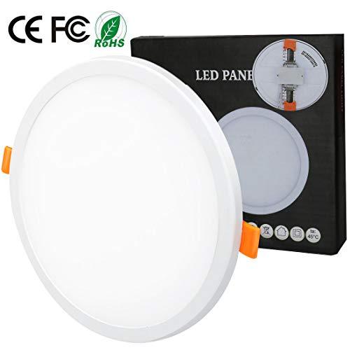 8W Luz de techo empotrada empotrada LED Redondo Ajustable Panel de luz...