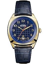 Vivienne Westwood Mens Analogue Classic Quartz Watch with Leather Strap VV175BLBL