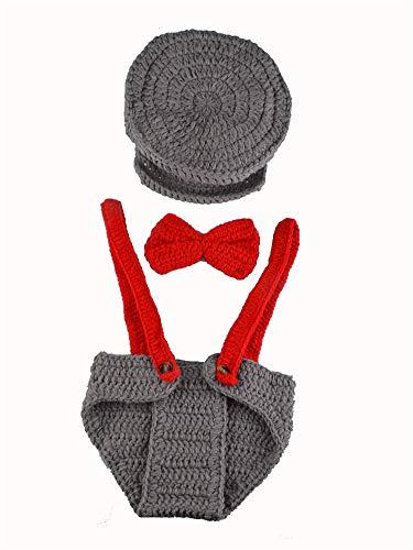 Weihnachtsmann Kostüm Kinder Muster - xwanli Kinder Baby Fotografie Strick Mütze Fotoshooting Neugeborene Muster Design Hut Kostüm Hüte, Häkel-Kostüm für Babys