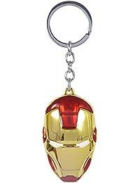 Keychain Keyring Iron Man Face Shining Pendant Key Chains Key Ring