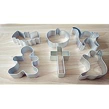 Kakaxi(TM) Moldes para galletas de Navidad - juego de 6 piezas (Batman, calabaza, gato, niño, Cruz, fantasma)