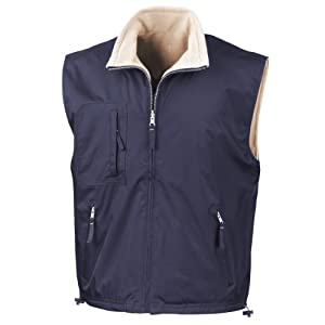 41xM9X%2BuDVL. SS300  - Result R061X Reversible Active Fleece Bodywarmer Navy/Camel XL