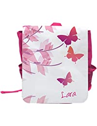 Preisvergleich für Kinder-Rucksack mit Namen Lara und schönem Motiv mit Schmetterlingen für Mädchen
