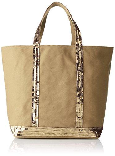 Vanessa Bruno Cabas medium coton et paillettes Beige (Santal) 16x30x43 cm (W x H x L)