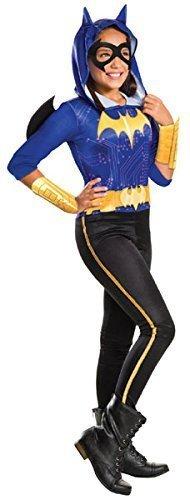 Kostüme Comic Dc Halloween (Mädchen DC Comics Batman Batgirl Overall Superheld Büchertag Halloween Kostüm Kleid Outfit 3 - 10 jahre - 8-10)