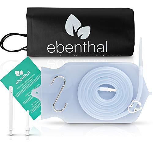 Enemas anales Premium EBENTHAL VITAL • 2l para limpieza de colon con bolsa práctica e instrucciones • Enema anal • Juego de alimentación para el ayuno