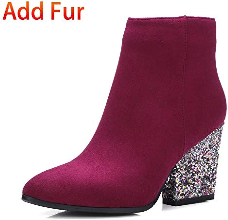 Ai Ya-xuezi 33 À 43 Bling High Heels Bottes Femme Chaussures Chaussures Femme De Mariage Parti Zip Up Chaussures Femme Bottines... 785ac9