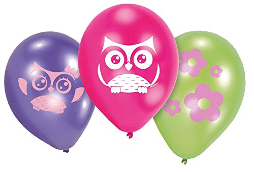 amscan Luftballons Set Eule 6-teilig -