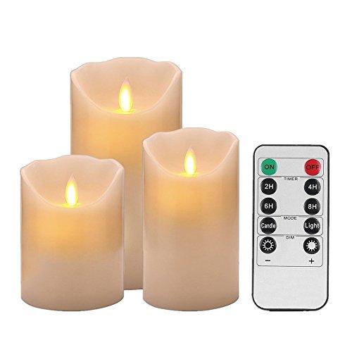 10 chiave senza fiamma led candele,elettronico candela candele votive led per natale feste matrimonio compleanno casa giardino esterno compleanno regalo feste casa giardi