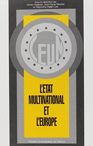 L'État multinational et l'Europe