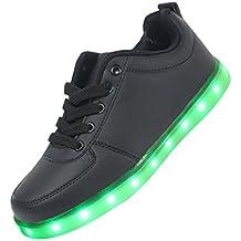Zapatos LED, LEADFAS 7 Colores Iluminan Hasta la Zapatilla de Deporte Hombres de las Mujeres USB de Carga de los Entrenadores Para el Día de Navidad Regalo LED Zapatillas