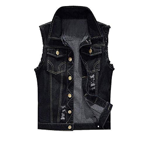 GERPY Baumwolle Jeans ärmellose Jacke Weste Männer Plus Size 6XL schwarz Denim Jeans Weste männlichen Cowboy im Freien Weste Herren Jacke -