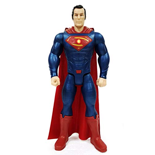 Avengers Superman Figure with Light & Sound, 30 cm, Action Hero PVC Action Figure Toy, Super Man Hero Figure Toy Model Premium Quality, Head Hand Legs Movement