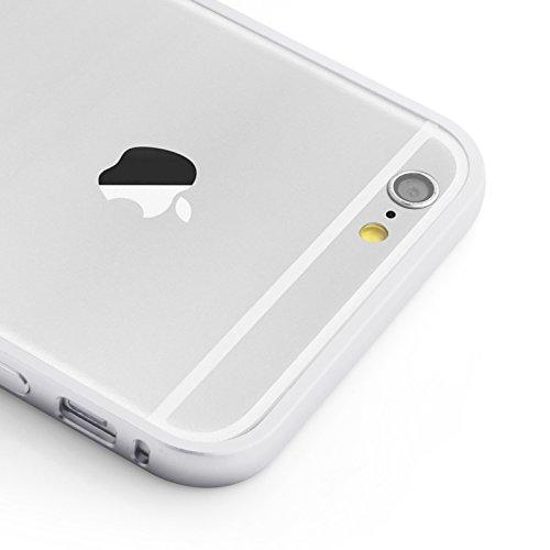JAMMYLIZARD | Aluminium Bumper Hülle für [ iPhone 6 Plus 5.5 Zoll ], SCHWARZ Alu Bumper - SILBER