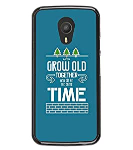 FUSON Grow Old Together Die Designer Back Case Cover for Meizu M1 Note :: Meizu Note 1