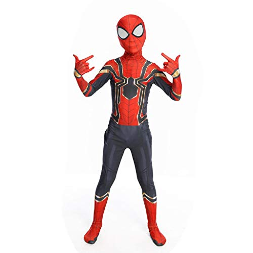 YUNMO Kinder Spider-Man Kostüm Spider-Man Kostüm Rot (größe : ()