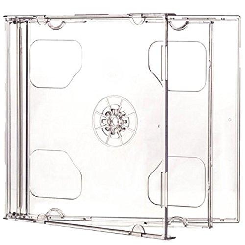 MasterStor CD/DVD-Hülle für 2 CDs (10,4 mm), Transparent, 25 Stück