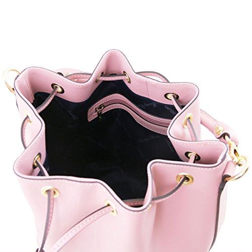 Tuscany Leather Vittoria - Sac secchiello pour femme en cuir Ruga Lilas Sacs à main en cuir Lilas