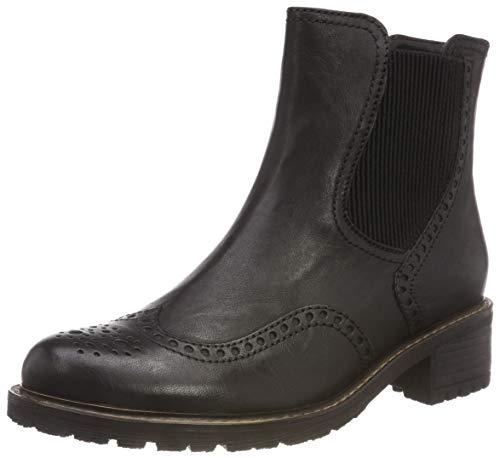 Gabor Shoes Damen Comfort Basic Chelsea Boots, Schwarz (Mel.) 17, 37.5 EU