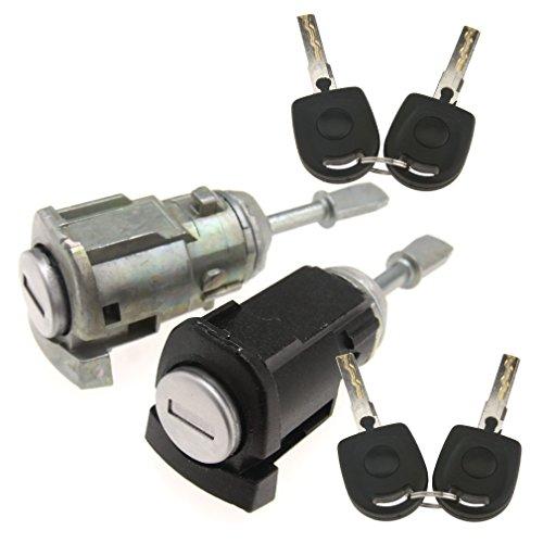 1 Paar Schließzylinder Türschloss Reparatursatz Mit 4 Schlüssel Für VW Golf MK4 Bora