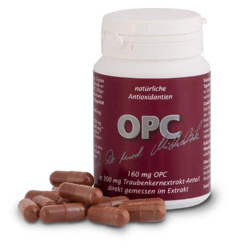 OPC nach Dr. med. Michalzik, Extrakt aus Vitis vinifera mit 160 mg reinem OPC und 50 mg Vitamin C je Kapsel, natürliche Antioxidantien, 72 rein pflanzliche Kapseln - ohne Zusatzstoffe
