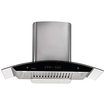Hindware 90cm 1200 m3/hr Auto Clean Chimney (Cleo 90, 1 Baffle Filter, Steel/Grey)