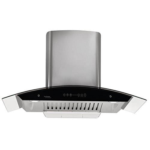 Hindware 90cm 1200 m3/hr Auto Clean Chimney (Cleo 90, 1 Baffle Filter, Steel/Grey)