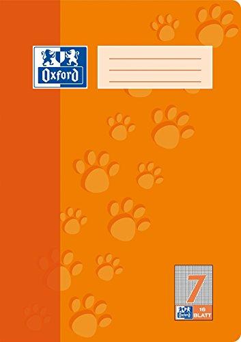 """Preisvergleich Produktbild OXFORD 100050403 Schulheft """"Schule""""   15er Pack   A4   16 Blatt   Lineatur 7 - kariert 7 mm   orange"""