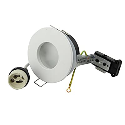 Recessed Round Spotlight IP65 230V GU10 Socket Holder for 50mm LED and Halogen Bulbs by JOYINLED