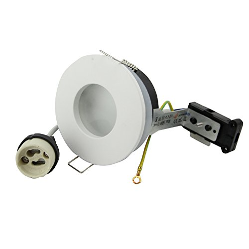 Foco empotrable redondo IP65 230 V GU10 soporte para bombillas LED y...