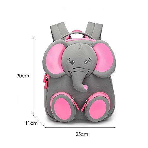 ESFSAF-backpackFashion Kids School Backpack 3D Lovely School Bags Animales Diseño Niños MochilasElefante