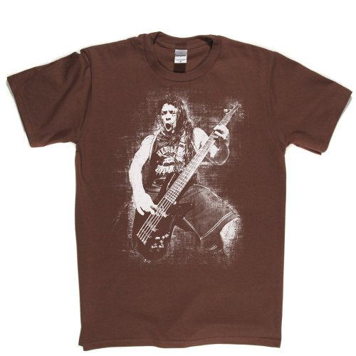 Robert Trujillo Mexican Bassist Heavy Metal Rock Bass Tee T-shirt Braun