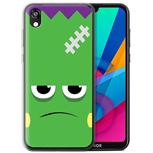eSwish Gel TPU Hülle/Case für Huawei Honor 8S/Y5 2019 / Frankenstein Muster/Halloween Zeichen Kollektion (Halloween 2019 Frank)