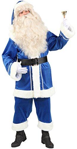 Kostüm Väterchen Frost - Weihnachtsmann Anzug in blau für Herren zu Weihnachten Gr.52/54