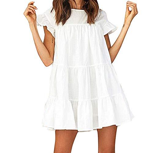 Vestido Verano Mujer Casual Mini Vestidos Fiesta Elegante