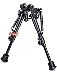 Zeadio Bípode rotativo con Base Picatinny/Weaver de rotación 360 grados y piernas telescópico (15 a 23 cm / 6 a 9 pulgadas)