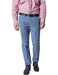 GARDEUR Herren Hose Baumwolle Pant Unifarben, Größe: 54, Farbe: Blau