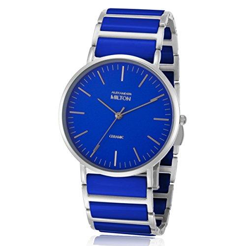 ALEXANDER MILTON - montre homme - CERES, bleu/argente