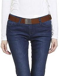 Lalafancy Cinturón de cintura elástica invisible Cinturón elástico de las  mujeres con hebilla plana de plástico para… 12ce7a07d861