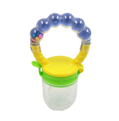 Cdet Baby Schnuller Lebensmittelqualität Silikon Kinder Nippel Frische Lebensmittel Milch Lebensmittel Feeder sicheres Baby Schnuller Flaschen Nippel Zitze Baby Fütterung (Blau Mittlere Tasche)