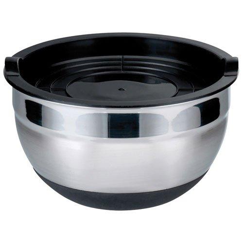 Elo 53474 Rubber Bowl Bol + avec couvercle Acier Inoxydable Argent/Noir 24 x 24 x 13,5 cm