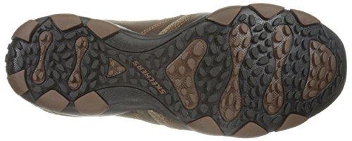 Skechers Mens Diameter Valen Leather Shoes Dark Brown