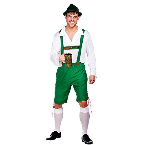 (XL) Herren Oktoberfest Guy Kostüm für deutsche Bayerische Fancy Kleid Mans Stecker XL