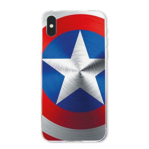 finoo | Iphone X Hard Case Handy-Hülle mit Motiv | dünne stoßfeste Schutz-Cover Tasche in Premium Qualität | Premium Case für Dein Smartphone| Kaugummi Pink American Shield