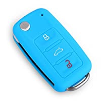 100% silicone di alta qualità, perfetto per il vostro chiave dell' automobile.Dimensioni: 65x 38x 15mm/2.5x 1.4x 0.5in.Colore: nero, bianco, arancione, rosso, blu, blu scuro, verde, viola, rosa, colore rosso, giallo.Contenuto della confezione: ...