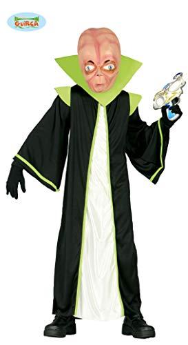 Guirca Alien Kostüm für Kinder Gr. 98-146, - Kinder Alien Kostüm